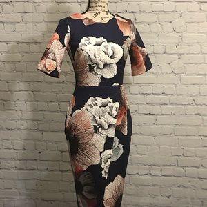 NWT ASOS Floral Faux Wrap Dress
